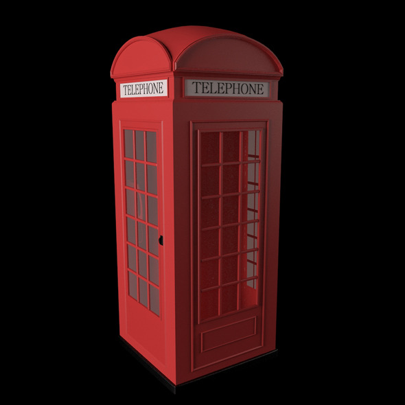 3D British Red Telephone Box - 3DOcean Item for Sale