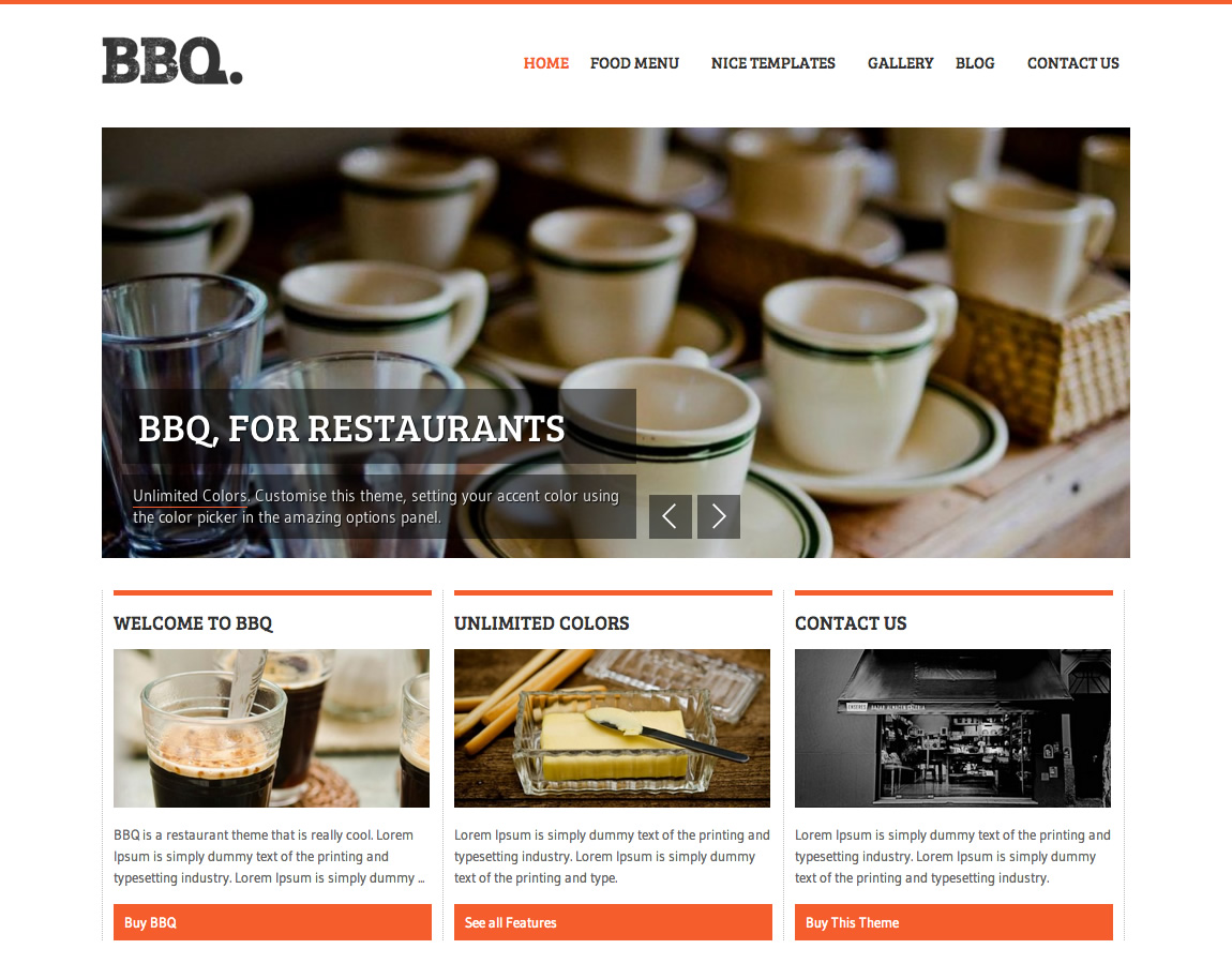 Bbq Restaurant Wordpress Theme By Nicethemes Themeforest