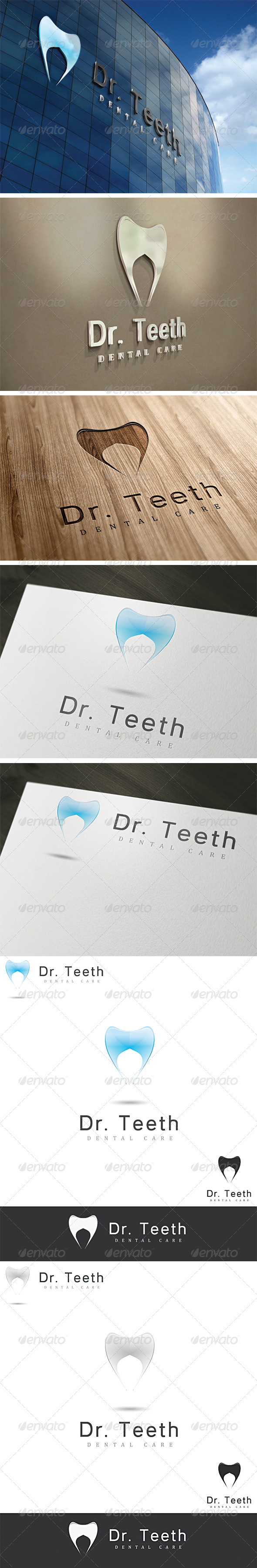 Dr. Teeth Dental Logo Template - Vector Abstract