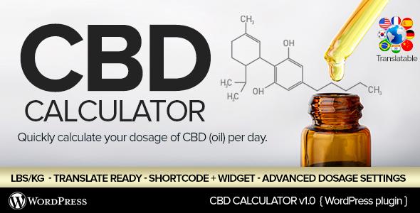 CBD Oil Dosage Calculator for WordPress