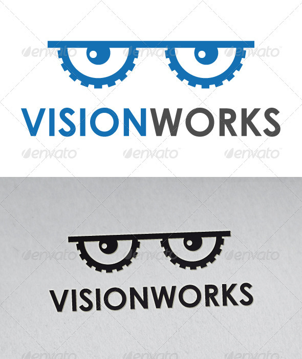 Vision Works Logo - Objects Logo Templates