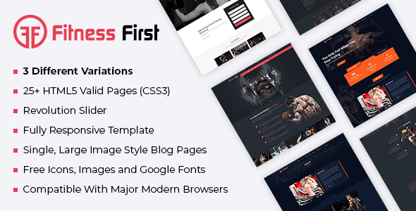 Fine Fitness Gym Html Template