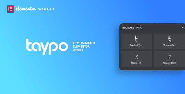 Taypo animated headings - widget for elementor