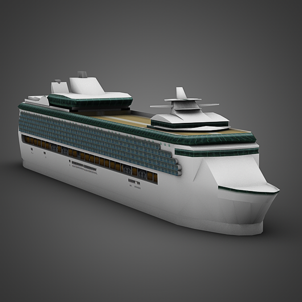 Cruise Ship - 3DOcean Item for Sale