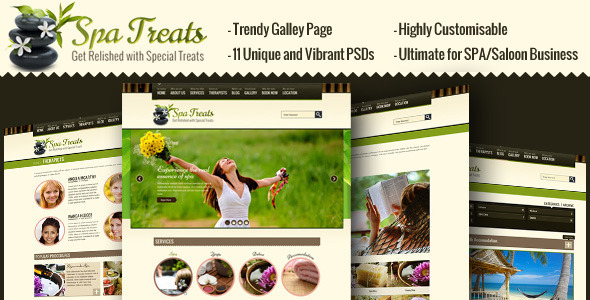 Spa Treats - Salon, Wellness PSD