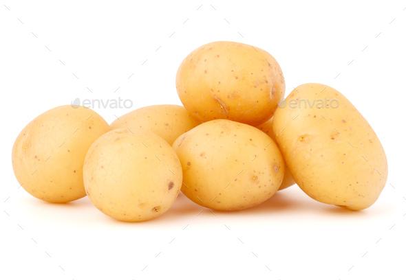 new potato tuber isolated on white background cutout - Stock Photo - Images