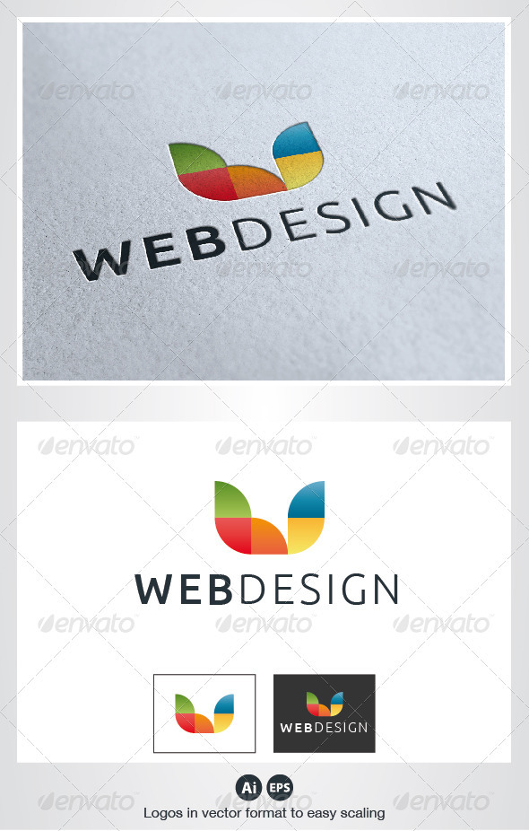 Web Design Color Logo - Letters Logo Templates