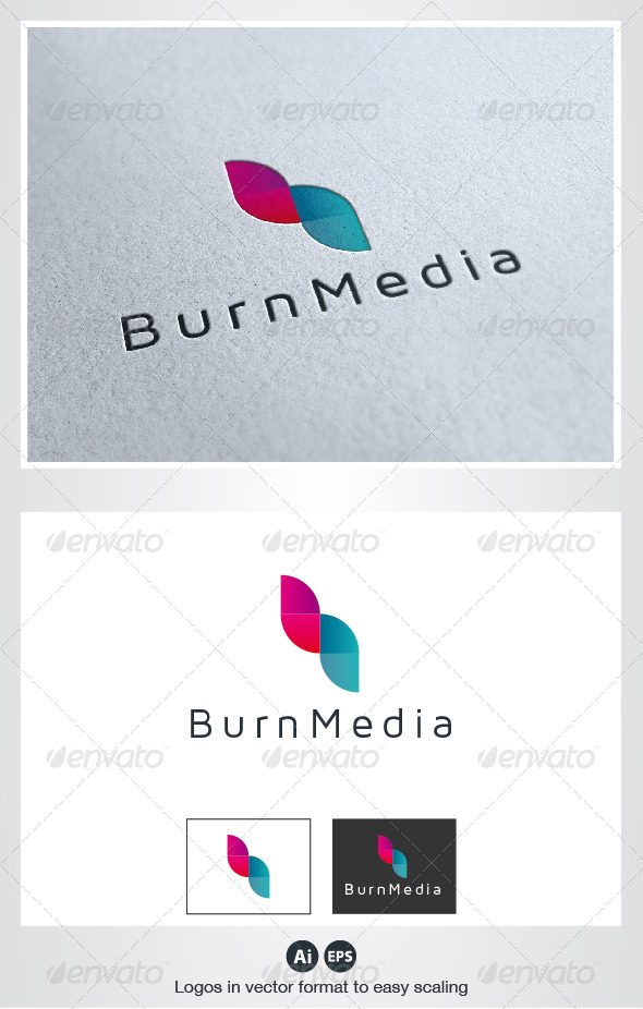 Burn Media Logo - Symbols Logo Templates
