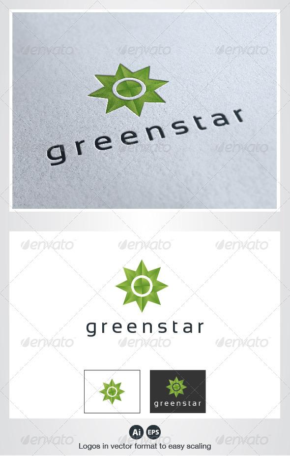 Green Star Logo - Symbols Logo Templates