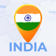 India Map - Republic of India Travel Map