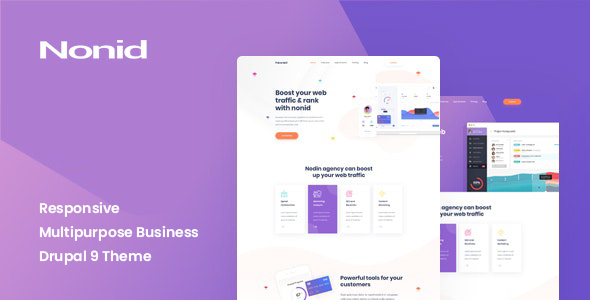 Nonid – Responsive Multipurpose Business Drupal 9 Theme