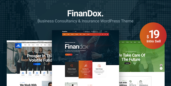 FinanDox - Business Consulting WordPress Theme