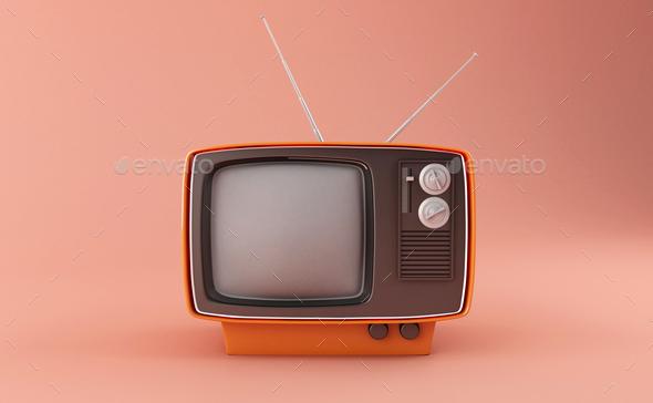 3D retro tv - Stock Photo - Images