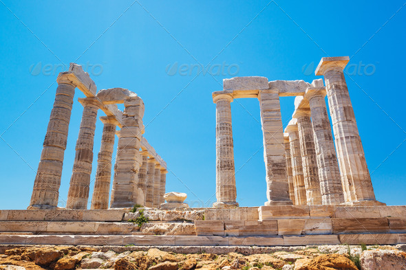 Ancient Temple Greek Ruins Acropolis - Stock Photo - Images
