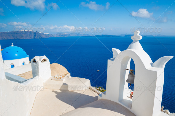 Santorini Island, Greece - Stock Photo - Images