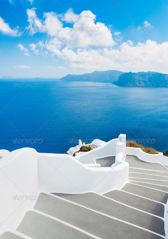 Santorini Island, Greece - Stock Photo - Images