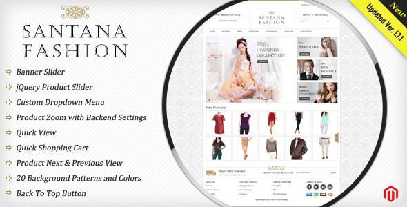 Santana Fashion Store - Magento eCommerce