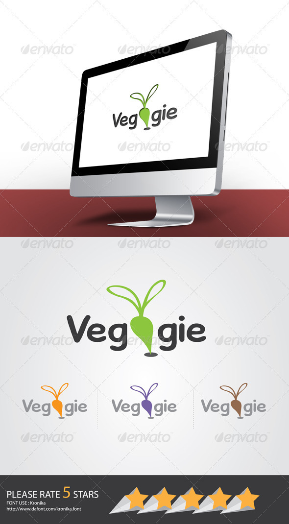 Veggie Logo - Food Logo Templates