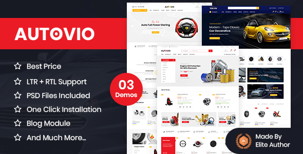 Autovio – Car Accessories, Auto Parts OpenCart Theme