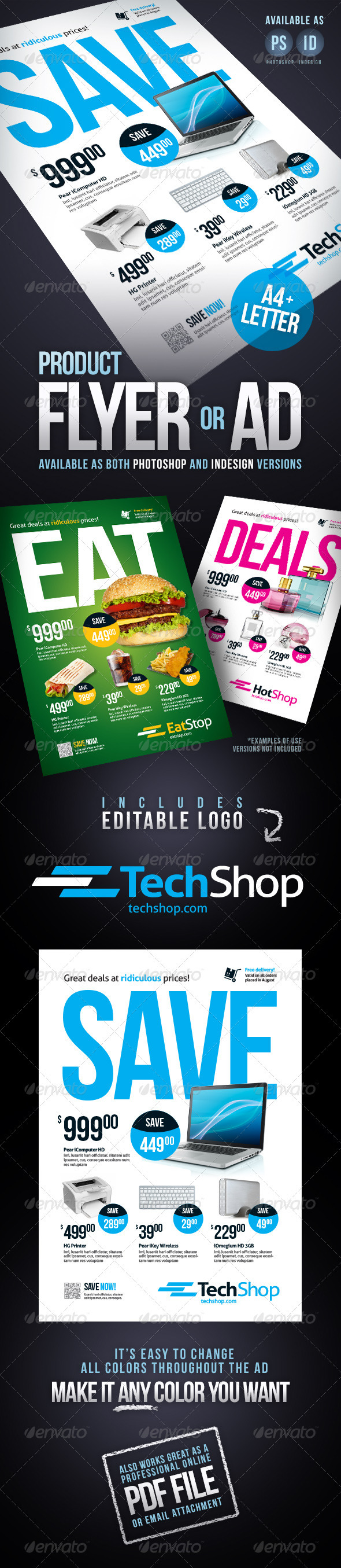 Product flyer / Ad  - Commerce Flyers