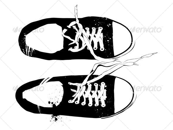 Athletic Shoes Sneakers  - Sports/Activity Conceptual
