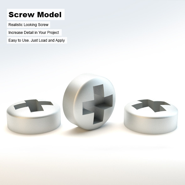 Steel Screw - 3DOcean Item for Sale