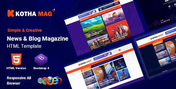 Kotha Mag - HTML5 News Magazine Template
