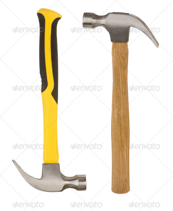 hammers isolated on white - Stock Photo - Images