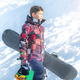 Boy with Snowboard in the Mountain Winter Resort - PhotoDune Item for Sale
