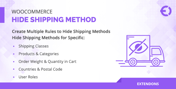 WooCommerce Hide Shipping Method for Product, Category & More