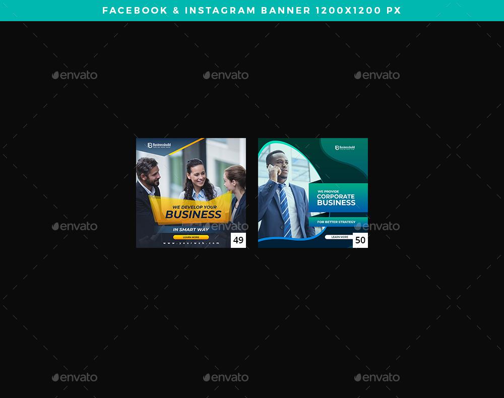 دانلود بنر لایه باز تجاری برای فیسبوک و اینستاگرام (پکیج طلایی 5)