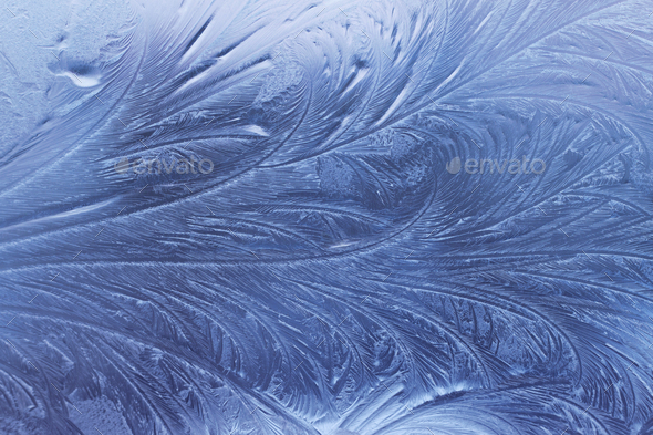 ice pattern on glass - Stock Photo - Images