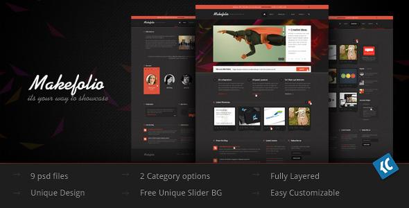 Makefolio | Unique Multipurpose Showcase PSD Templ - Creative PSD Templates