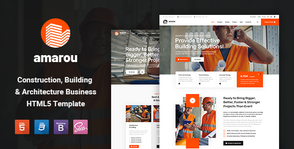 Incredible Amarou - Construction and Building HTML5 Template