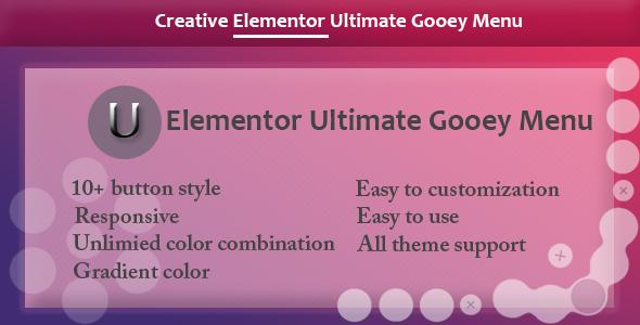 Elementor - Ultimate Gooey Menu