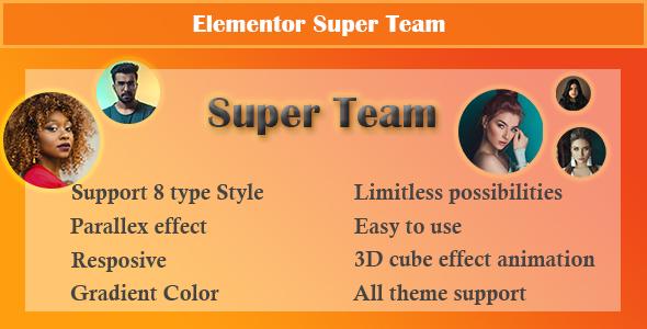 Elementor - Super Team