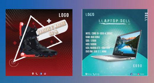9 Banners Social Media Sales