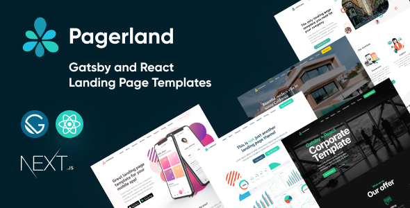 Awesome Pagerland - React and Gatsby Landing Page Templates