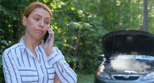 Car crash, car breakdown