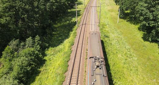 Train, RailWay, Aerial