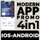 Modern APP Promo V-4 in 1-IOS and ANDROID - VideoHive Item for Sale
