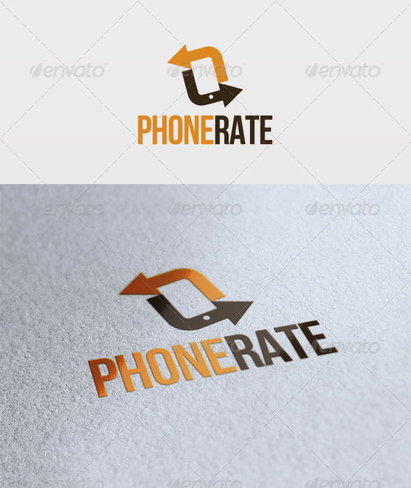 Phone Rate Logo - Vector Abstract