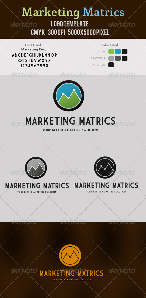 Marketing Metrics Logo - Symbols Logo Templates