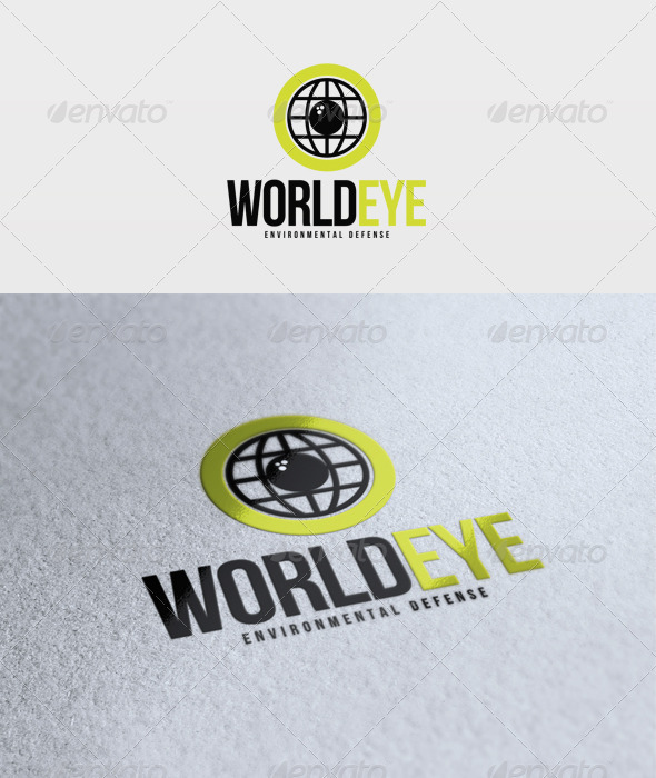 World Eye Logo - Vector Abstract