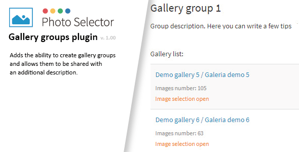 Gallery groups plugin for Photo Selector
