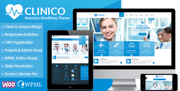 Clinico Premium Medical And Health Theme By Creativews Themeforest