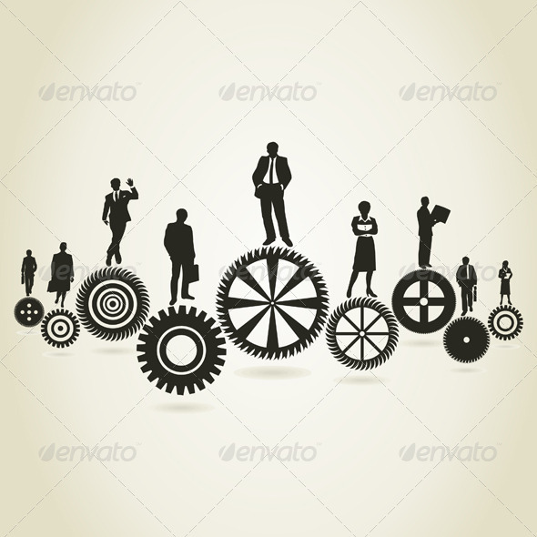 Business a gear wheel - People Characters