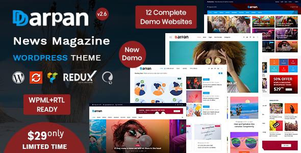 Darpan - News Magazine WordPress Theme