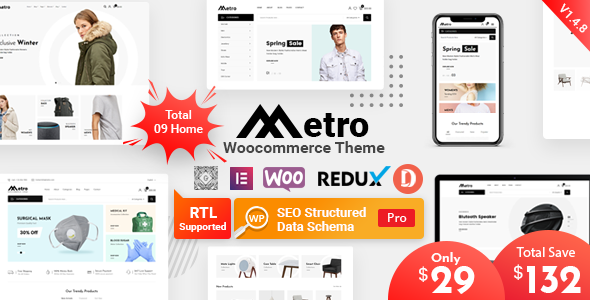 Metro – Minimal WooCommerce WordPress Theme