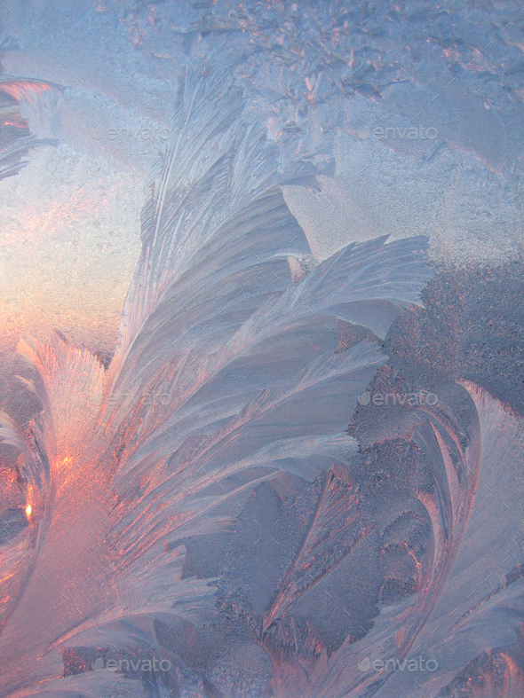 Ice and sun winter texture - Stock Photo - Images